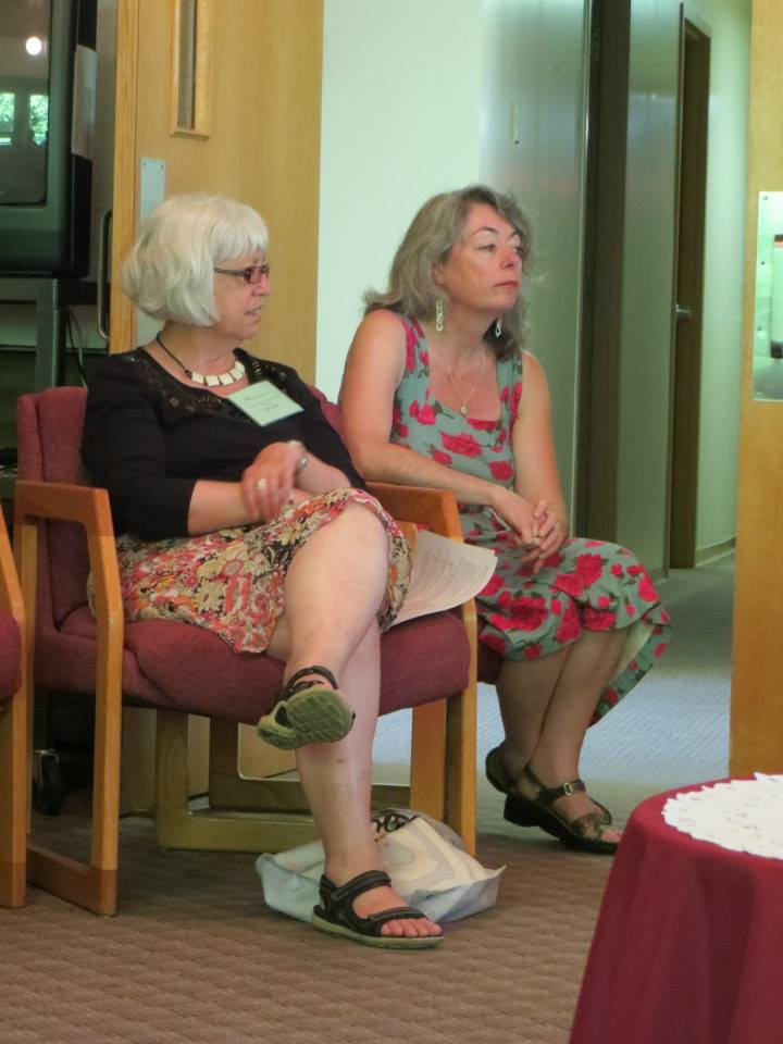 Dr. Gail Allan and Dr. Mary Marrocco. Photo by André Lavergne, ELCIC